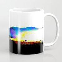 salt water Mugs featuring Salt Surf by Andooga Design