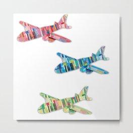 Plane Ride - Paper Cut Artwork Metal Print
