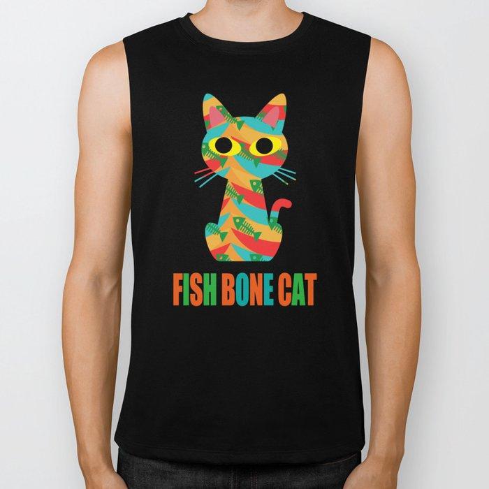Fish Bone Cat Biker Tank