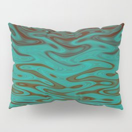 Ripples Fractal in Teals Pillow Sham