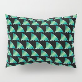 Green shark fin pattern Pillow Sham