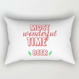 It's The Most Wonderful Time For Beer Rectangular Pillow