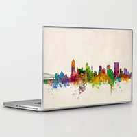 tennessee Laptop & iPad Skins featuring Memphis Tennessee Skyline Cityscape by artPause