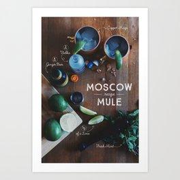 Moscow Mule Recipe Board Art Print