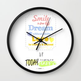 {ENG} SMILE · DREAM · LOVE Wall Clock