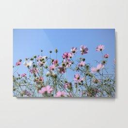Pink Lavender Pastel Flowers Metal Print