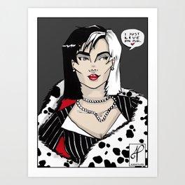 Cruella. Art Print