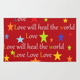Love will heal the world Rug