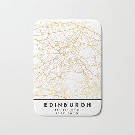 EDINBURGH SCOTLAND CITY STREET MAP ART Bath Mat