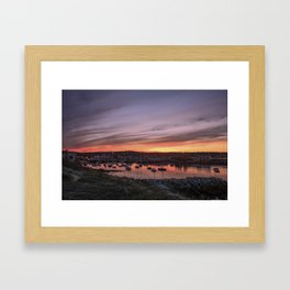 Last Rockport Sunset of Summer Framed Art Print