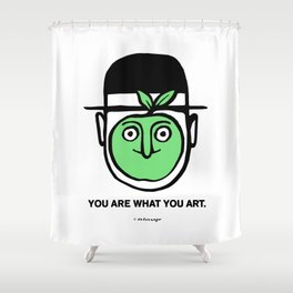 You Are What You Art Shower Curtain