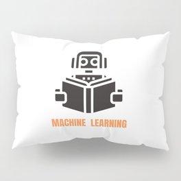 Machine Learning robot Pillow Sham