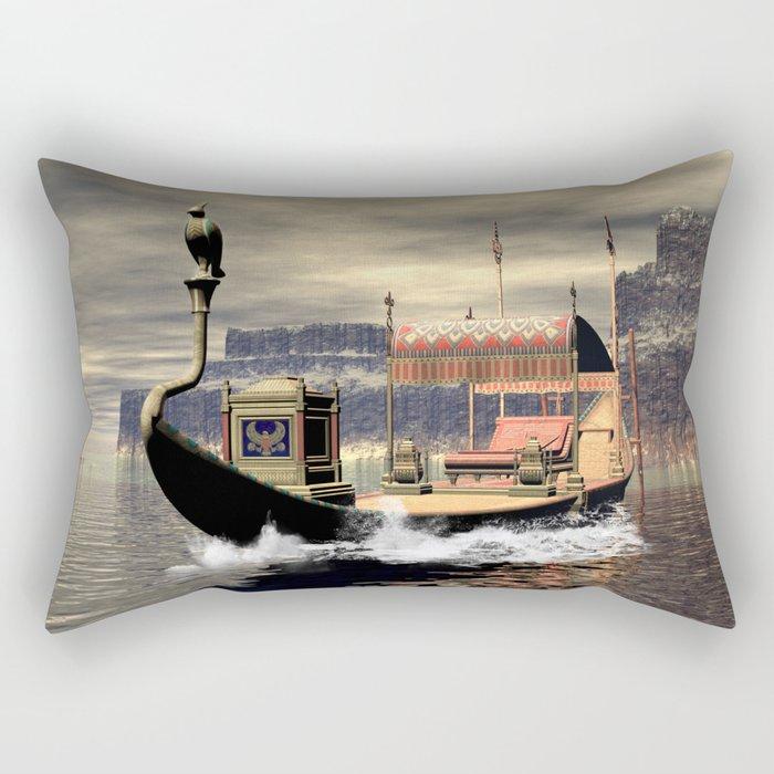 Sacred barge Rectangular Pillow