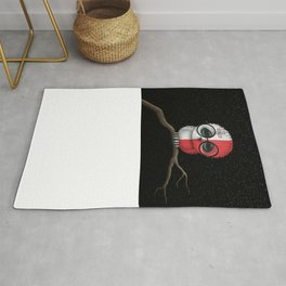 Baby Owl with Glasses and Maltese Flag Rug
