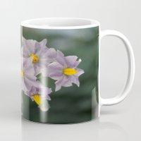 potato Mugs featuring Potato Flowers by taiche