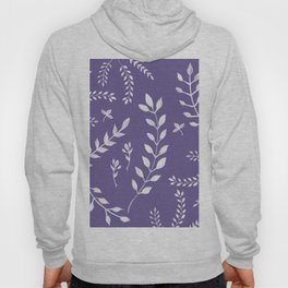 Ultra Violet Leaves Pattern #2 #drawing #decor #art #society6 Hoody