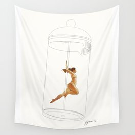 French Press Pole Dancer Wall Tapestry