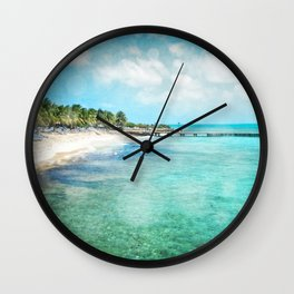 Hello, Grand Turk! Wall Clock