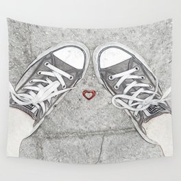 Sneaking Up On Love Wall Tapestry