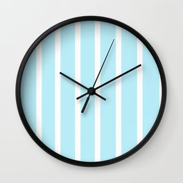 Baby Blue Striped art Wall Clock