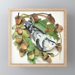 Acorn Nuthatch Framed Mini Art Print