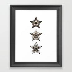 3 Stars Framed Art Print
