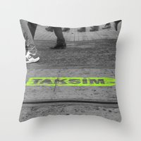 street Throw Pillows featuring street by habish
