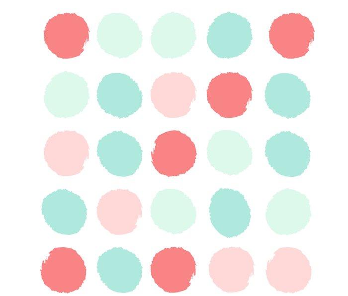 Painted dot abstract trendy colors gender neutral seaside coral tropical minimal Metal Travel Mug