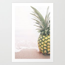 Pineapple Beach Art Print