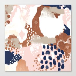 Skadi - metallic painting abstract minimal nursery home decor dorm college art Canvas Print
