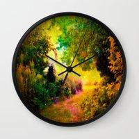 heaven Wall Clocks featuring HEAVEN by 2sweet4words Designs
