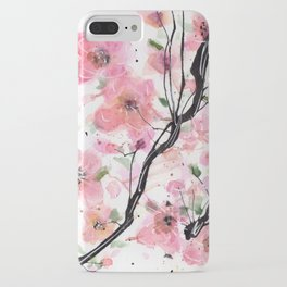 Watercolored Cherry Blossoms iPhone Case