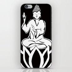 black and white buddha iPhone & iPod Skin