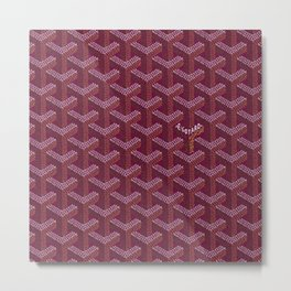 Goyard purple Metal Print