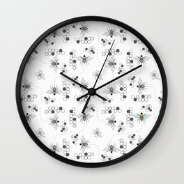 The Odd Bee Out Wall Clock