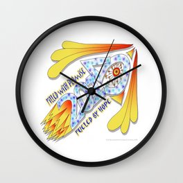 2015 Full of Promise, Fueled by Hope - Zentangle Illustration Wall Clock