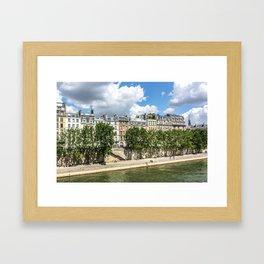 Paris Seine Views Framed Art Print