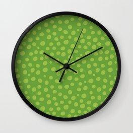 Green Dots Wall Clock