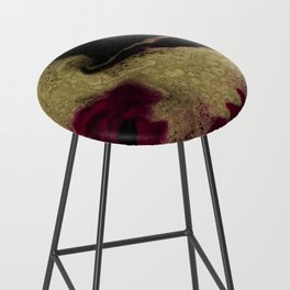 Black Honey - resin abstract painting Bar Stool