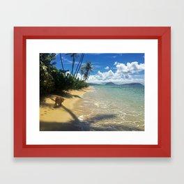 Walk on the Beach Framed Art Print