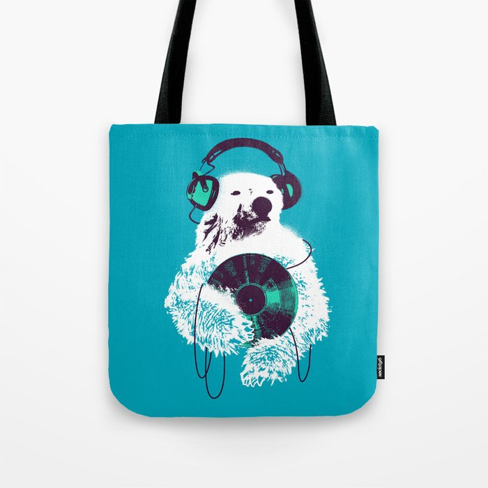 Record Bear Tote Bag