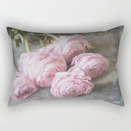 A Bunch Of Lovely Ranunculus Rectangular Pillow