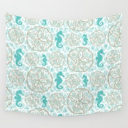 Sand Dollars and Seahorses Wall Tapestry
