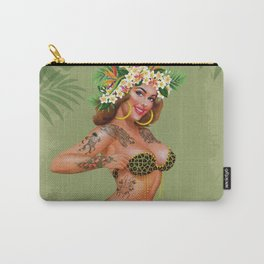 Metro&medio Designs - Animal print and flowers pin-up Carry-All Pouch