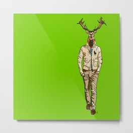 Stag with Swag Metal Print