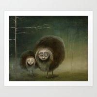 Mabel and Mo Art Print