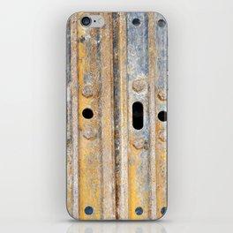 Rusty excavator caterpillar iPhone Skin