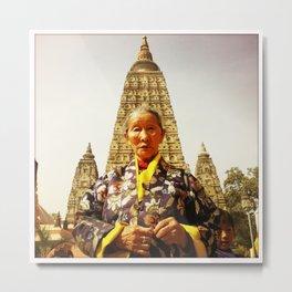 Amala at Bodh Gaya Metal Print