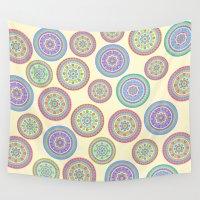 zentangle Wall Tapestries featuring zentangle by Alapapaju