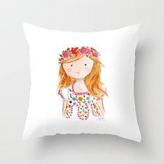 Sister Golden Hair Surprise Throw Pillow